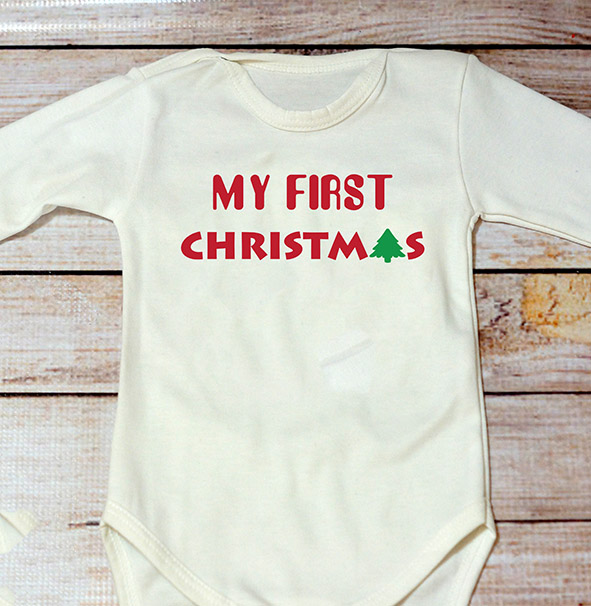 My First Christmas Bodysuit
