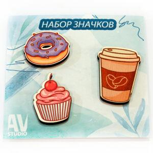 Բրոշների հավաքածու Doughnut