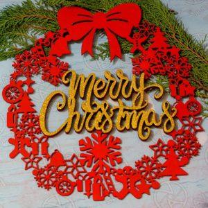 Merry Christmas ամանորյա դեկոր