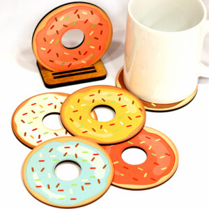 """Բաժակի տակդիրներ """"Doughnuts"""""""