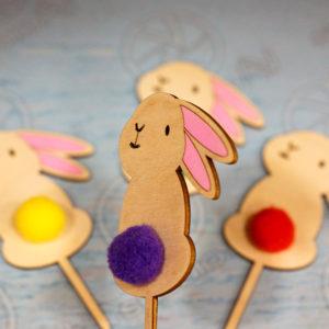Սուրբ Զատիկի դեկոր-նապաստակ թխվածքի կամ ածիկի վրա դնելու համար