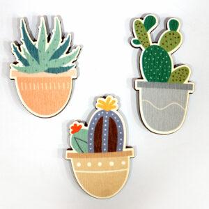 Բրոշների հավաքածու Cactus