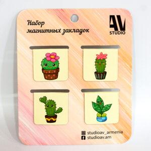 """Մագնիսե էջանիշների հավաքածու """"Cactus"""""""