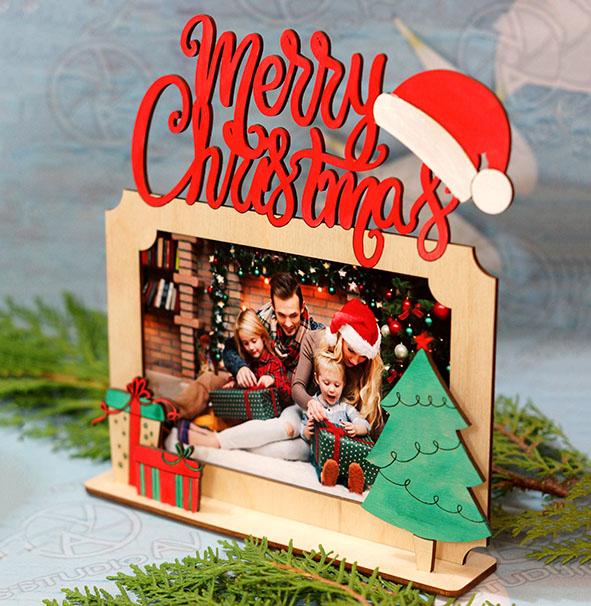 Merry Christmas ամանորյա նկարի շրջանակ