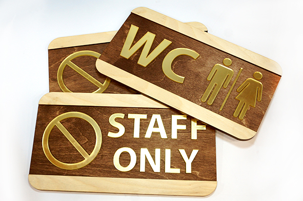 wooden door signs