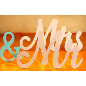 Հարսանեկան դեկոր Mr & Mrs